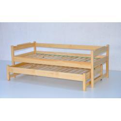 Łóżko dwuosobowe wysuwane niskie-80