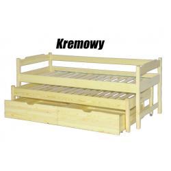 Łóżko dwuosobowe wysuwane wysokie z szufladami-90