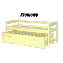 Łóżko dwuosobowe wysuwane wysokie z tapczanem-90