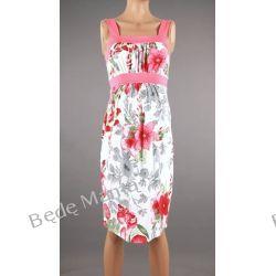 Branco: letnia sukienka ciążowa na szerszych ramiączkach