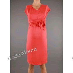 Branco: Letnia sukienka ciążowa z zakładanym dekoltem