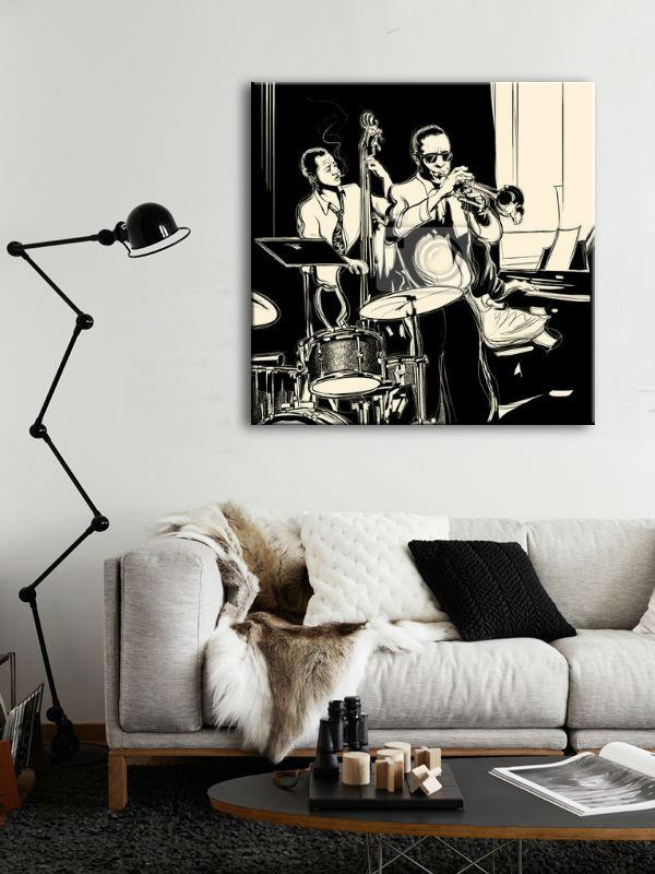 Obrazy Czarno Białe Z Muzykami Obrazy Do Salonu Abstrakcyjne I