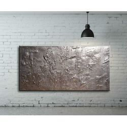 obrazy nowoczesne srebrne abstrakcyjne