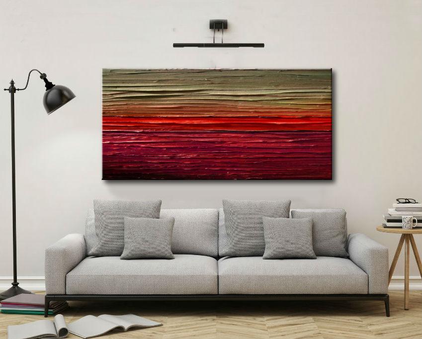 Malarstwo Abstrakcyjne Obraz Panoramiczny 120x60cm Boki 4cm Obrazy