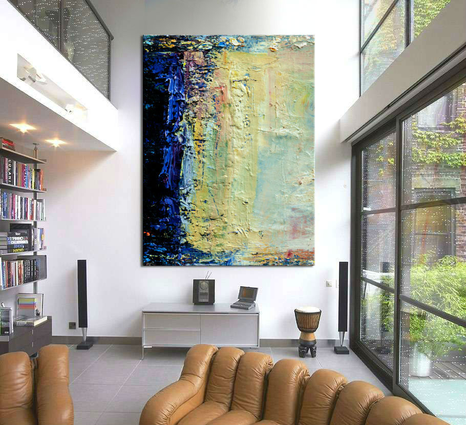 obraz abstrakcyjny do salonu lub antresoli