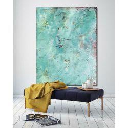 Duże obrazy do salonu w niebieskim odcieniu