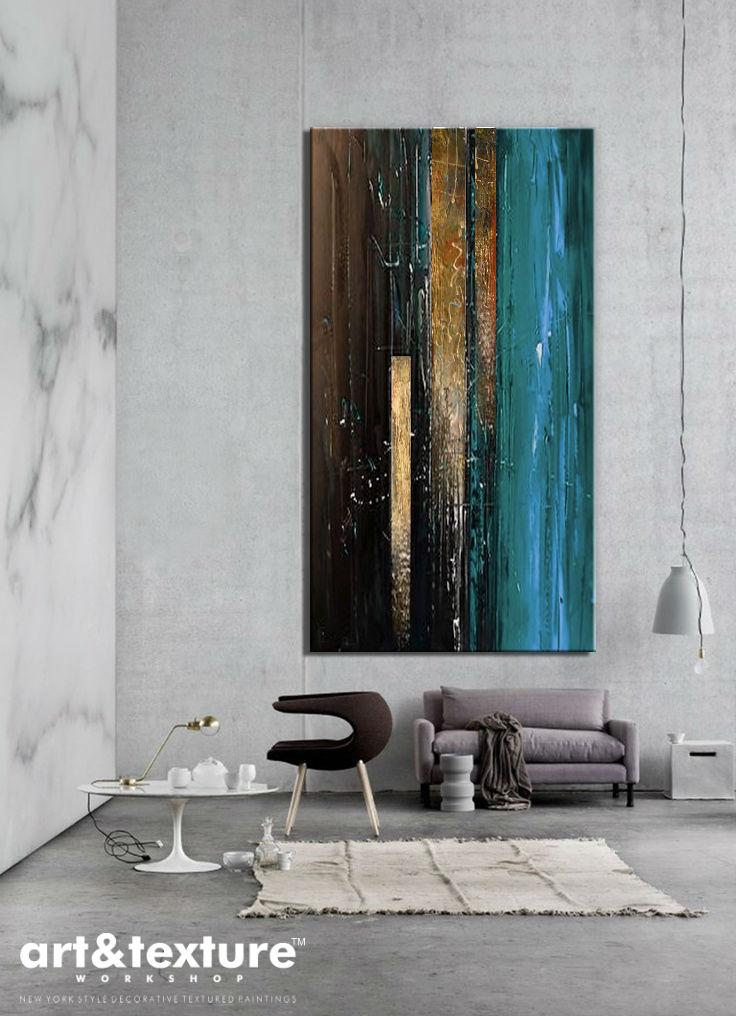 obraz abstrakcyjny w salonie