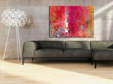 Duży Czerwony Obraz Na ścianę Duże Obrazy Obrazy Do Salonu