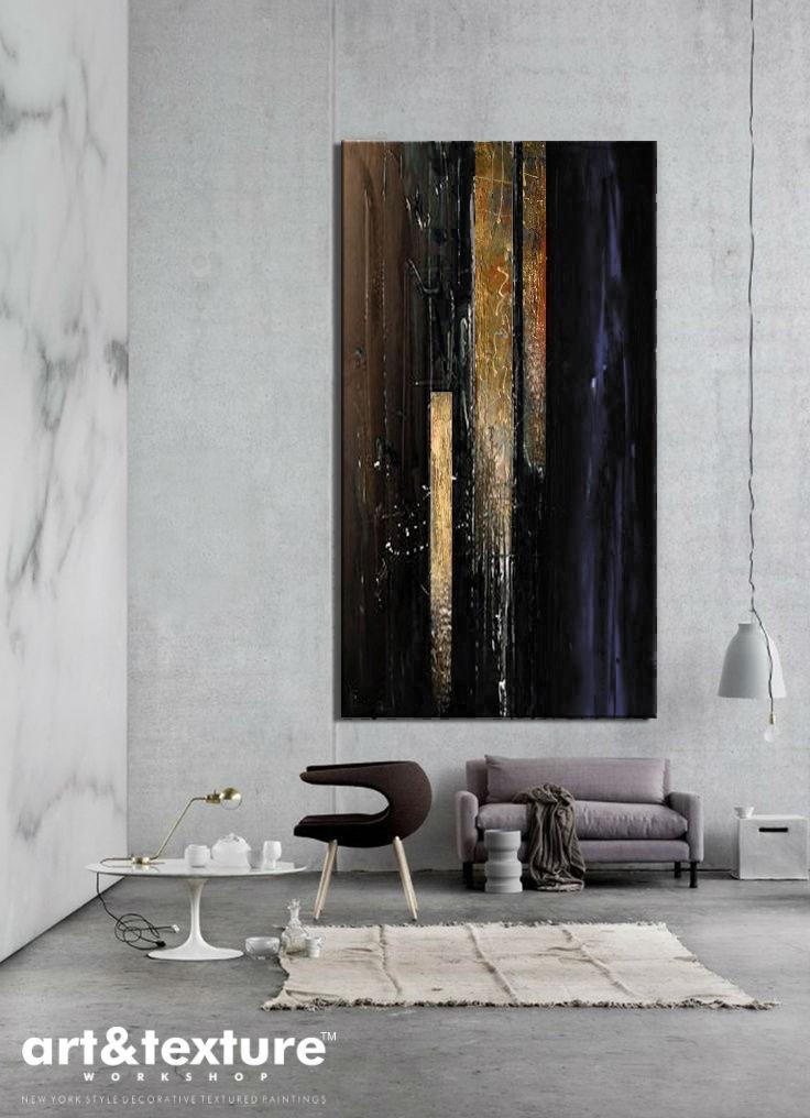 Obrazy Do Salonu Elegancka Czerń Obrazy Ze Złotym Obrazy Do Salonu Abstrakcyjne I Nowoczesne