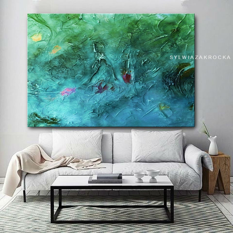 Wyrafinowany Obraz Nowoczesny Morskie Sny Obrazy Abstrakcyjne