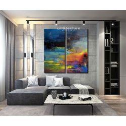 Rozlane niebo - abstrakcyjne obrazy do modnego salonu