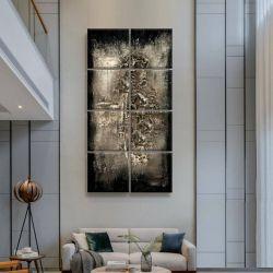 SILVER BLACK - Wielkoformatowy obraz na płótnie abstrakcyjny art&texture®