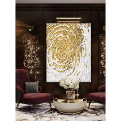 GOLDEN FLAKES - Wielkoformatowy obraz na płótnie abstrakcyjny art&texture™