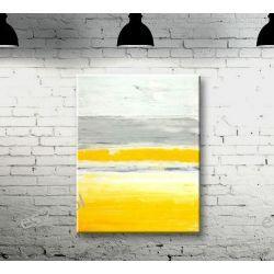 Obraz ręcznie malowany na płótnie MGLISTY PORANEK 70x100cm