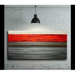 Na ścianę do salonu z czerwonym pasem 60x120