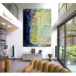 Błękitne fantazje - Duże obrazy do salonu