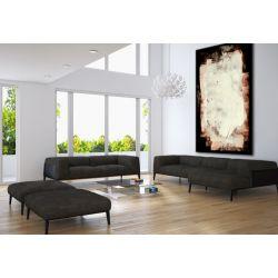 Beżowe kontrasty - Duże obrazy do salonu ręcznie malowane