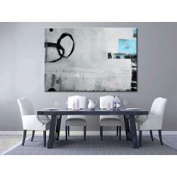Obrazy nowoczesne - duże obrazy ręcznie malowane - Abstrakcja z błękitem