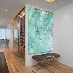 Obraz na ścianę do salonu z grubą strukturą akrylową