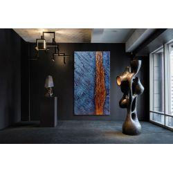 """Abstrakcyjne obrazy do salonu w stylu nowojorskim - """"rzeźbione sny"""""""