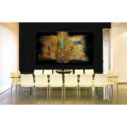 """Nowoczesne obrazy na ścianę - obraz """"złoto i akcenty"""""""