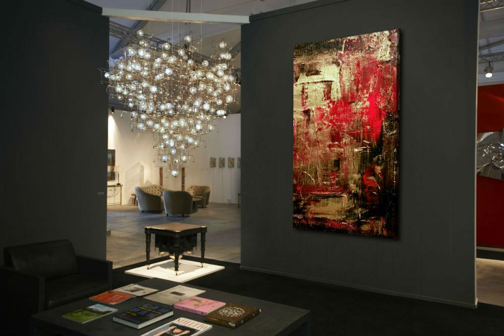 czerwone dekoracje do salonu
