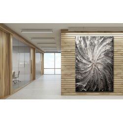 Obrazy abstrakcyjne - srebrny wir