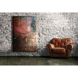 """rzeźbiony sen"" płaskorzeźbiony duży obraz na ścianę"