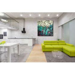 strukturalna mozaika - abstrakcyjny obraz na ścianę