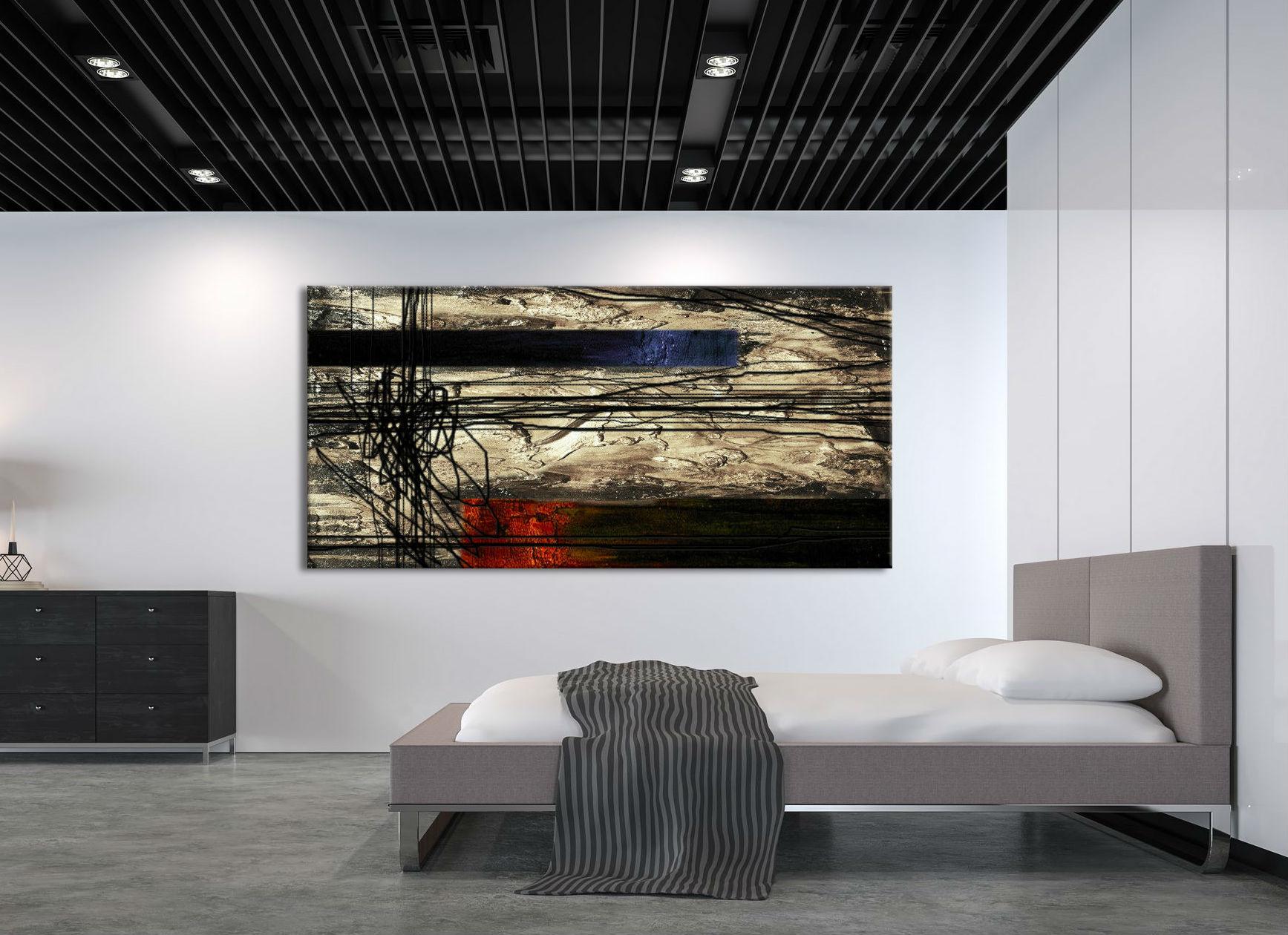 malowany wg współczesnych wytycznych obraz abstrakcyjny