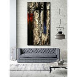 kontrastowa abstrakcja - nowoczesny obraz na ścianę