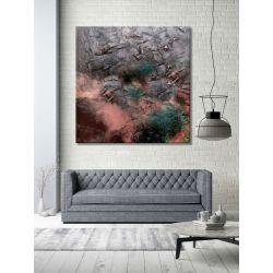 stylowa abstrakcja - duży modny obraz do salonu w nowoczesnym stylu