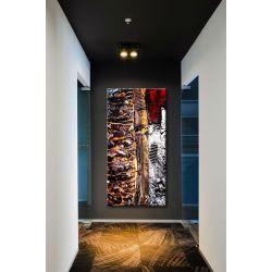 strukturalny collage - Modny obraz na ścianę 90x190cm | obrazy do salonu
