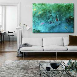morskie fantazje - nowoczesny obraz wielkoformatowy | obrazy do salonu