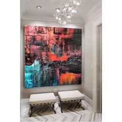 Obrazy nowoczesne - kolorowa abstrakcja