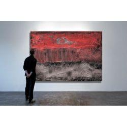 Czerwona eksplozja - Modny obraz na ścianę | obrazy do salonu