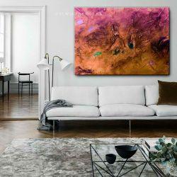 Stylowe obrazy do salonu - pastelowy zachod