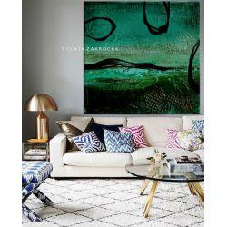 Tajemnicza zielen obrazy do salonu nowoczesnego