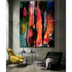 Kolorowa awangarda obrazy do salonu nowoczesnego