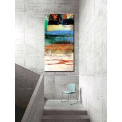 Masajska abstrakcja obrazy do salonu nowoczesnego