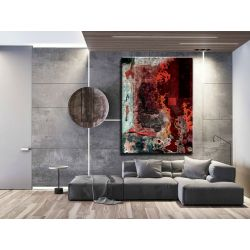 Strukturalna lawa - abstrakcyjne obrazy do modnego salonu