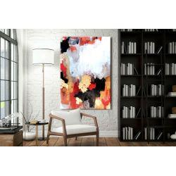 Złoto i alabaster - abstrakcyjne obrazy do modnego salonu