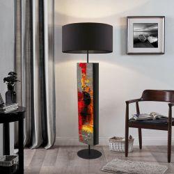 Abstrakcyjna inspiracja - ekskluzywna ręcznie rzeźbiona lampa podłogowa