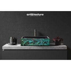 ESMERALDA - nablatowa umywalka artystyczna ręcznie wykończona