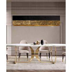 LA TEXTURA - Artystyczna ekskluzywna LAMPA SUFITOWA duża do loftu