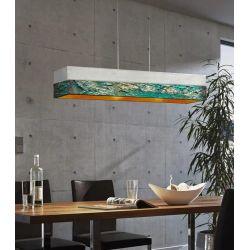 ANTRACTA - Artystyczna ekskluzywna LAMPA SUFITOWA duża do loftu