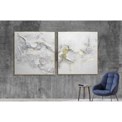 Biała elegancja dyptyk - obraz na płótnie