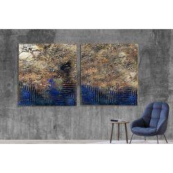 Industrialny dyptyk - Wielkoformatowy obraz na płótnie abstrakcyjny art&texture®