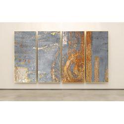GOLDEN ROSE - Wielkoformatowy obraz na płótnie abstrakcyjny art&texture®