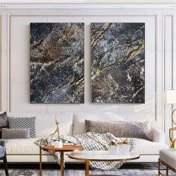 Strukturalne żłobienia -Wielkoformatowy obraz na płótnie abstrakcyjny art&texture®